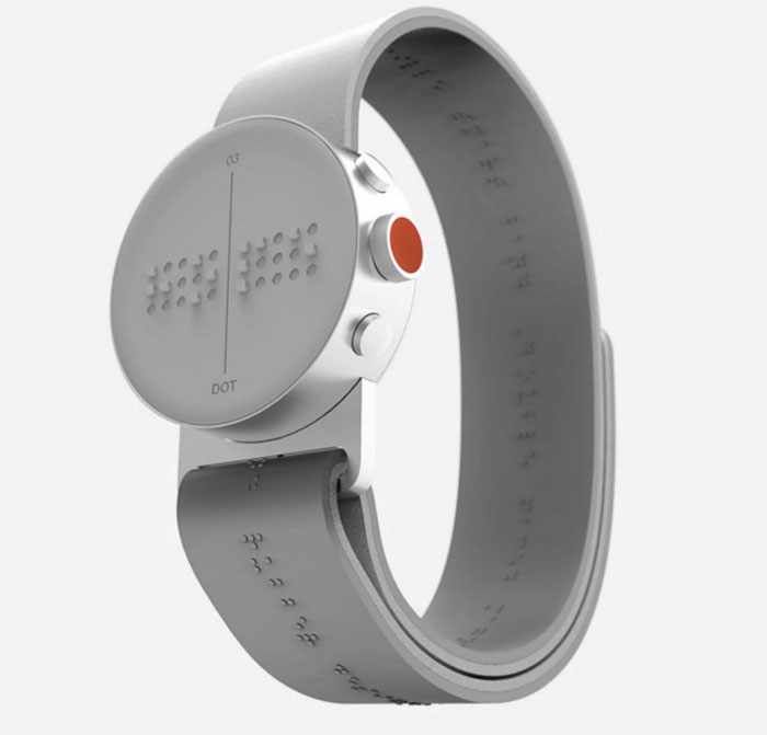 blind people braille smartwatch dot