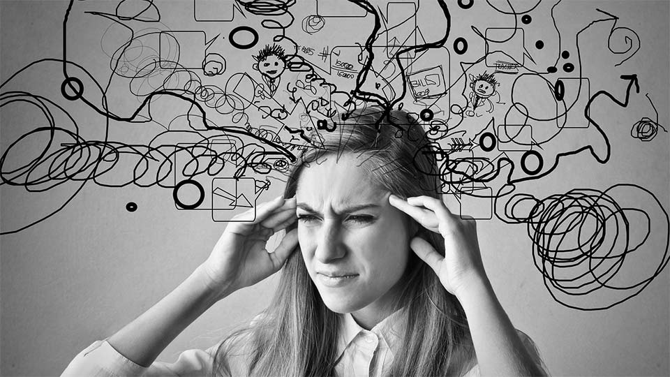 negative thoughts affect brain