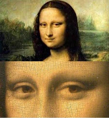 Mona Lisa doesn't have eyebrows
